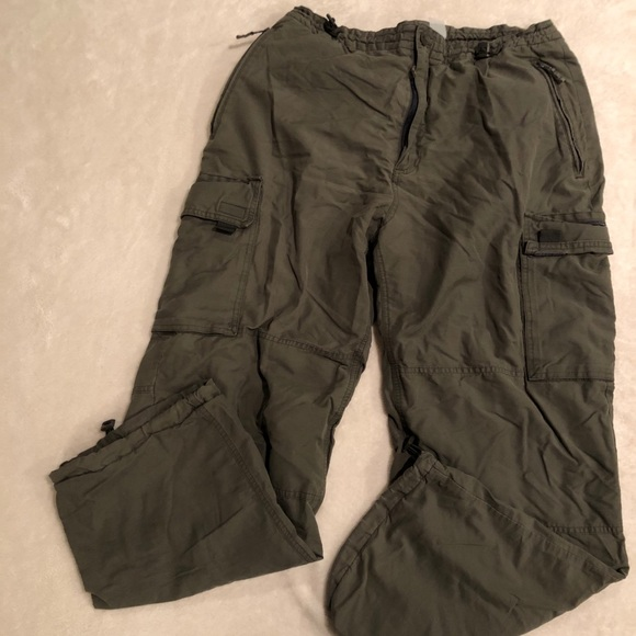 Gap Lined Cargo Pants Army Green Men's Size L